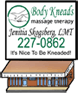 Body Kneads Massage Therapy- Jenitia Skogsberg
